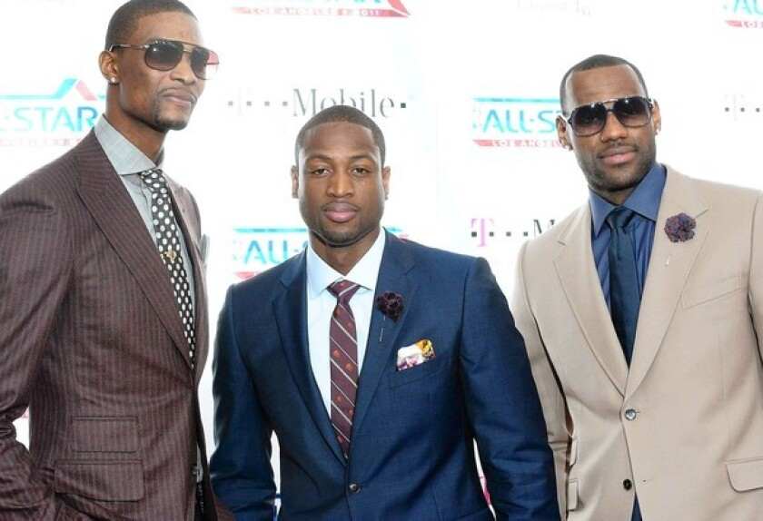 Chris Bosh, Dwyane Wade and LeBron James