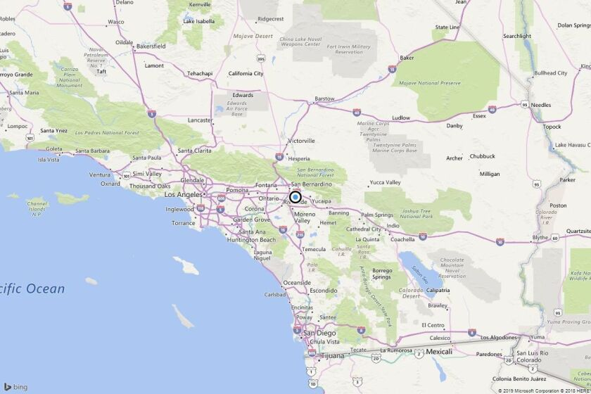 A map showing the location of the epicenter of Wednesday morning's quake.