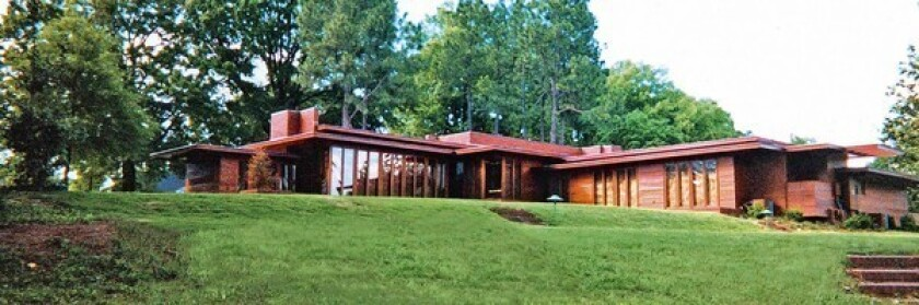Frank Lloyd Wright's Usonian-style Rosenbaum House in Florence, Ala., blurs the distinction between indoors and outdoors.