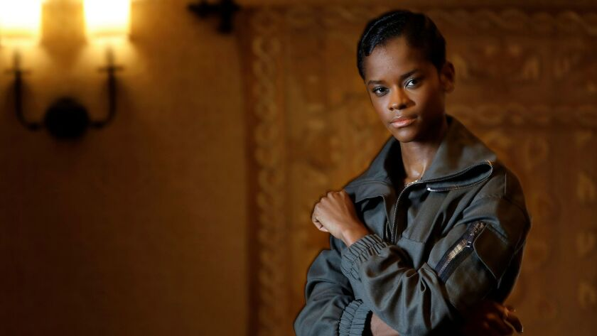 BEVERLY HILLS-CA-FEBRUARY 1, 2018: Actress Letitia Wright, who plays Black Panther's sister Shuri in