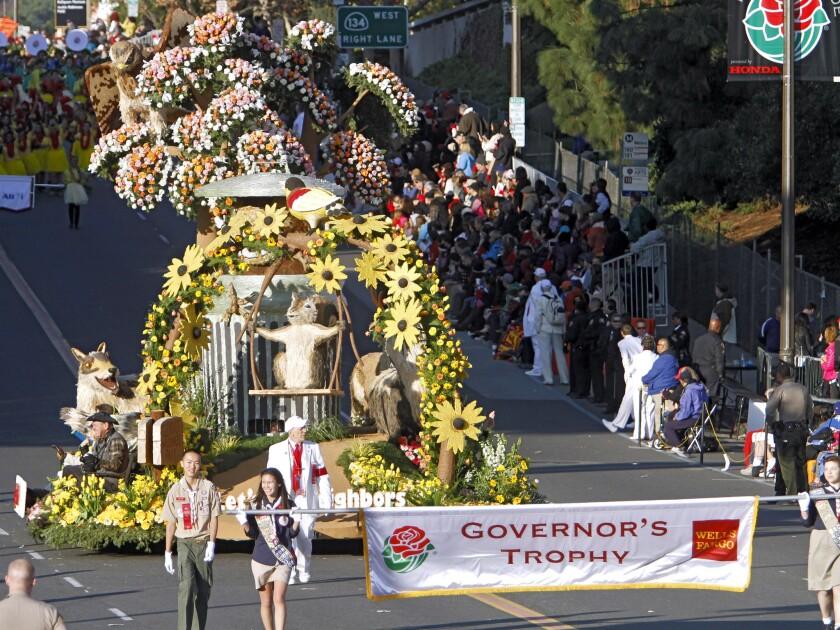 Glendale's 2014 Rose Parade float