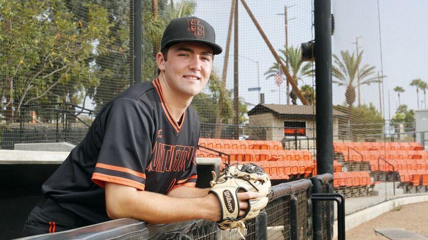 Huntington Beach High's Josh Hahn is the Daily Pilot Baseball Dream Team Player of the Year. Hahn pl