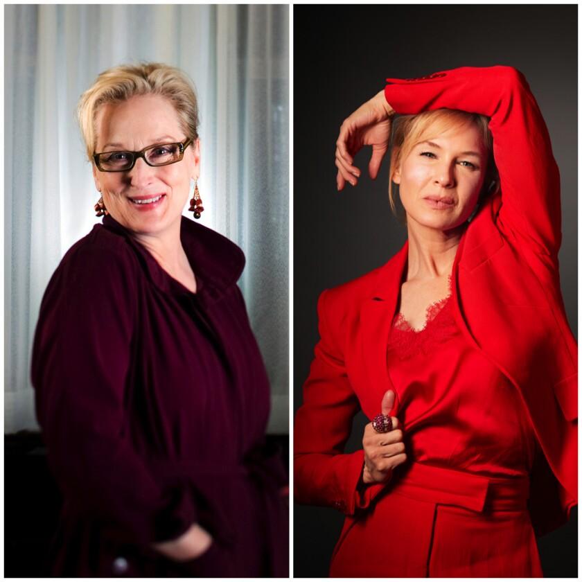 Portraits of Renée Zellweger and Meryl Streep