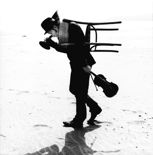 "Tom Waits by Anton Corbijn, California, Dillon Beach, 2002. From ""Waits/Corbijn,"" published by Schirmer/Mosel."