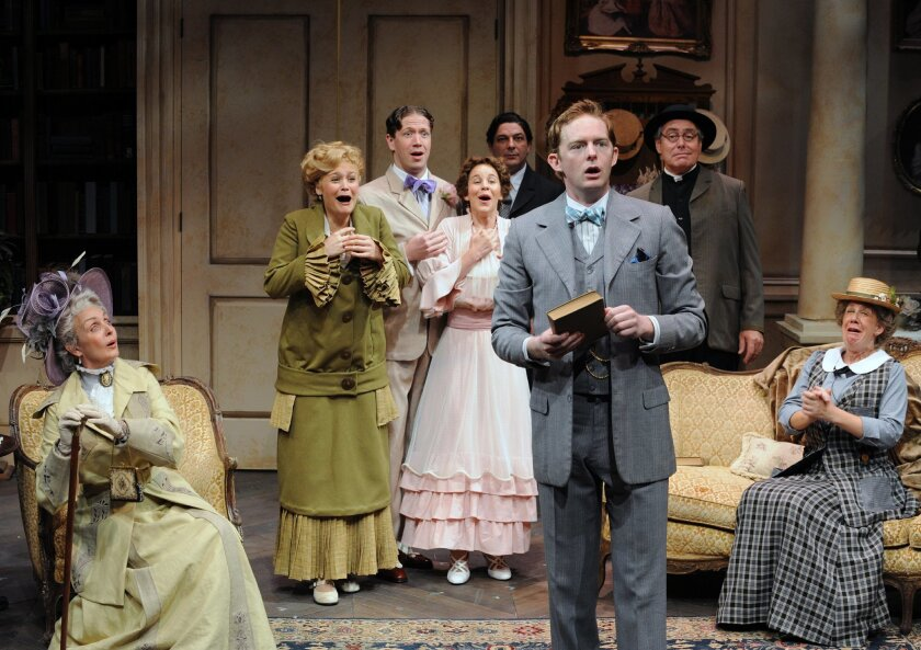 "The cast of Cygnet Theatre's ""The Importance of Being Earnest."""