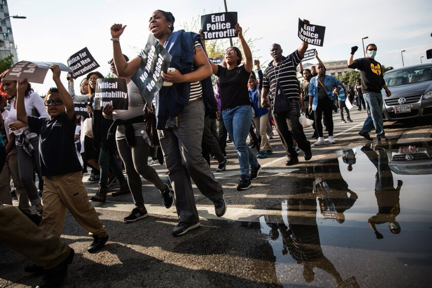 Protest over death of Freddie Gray