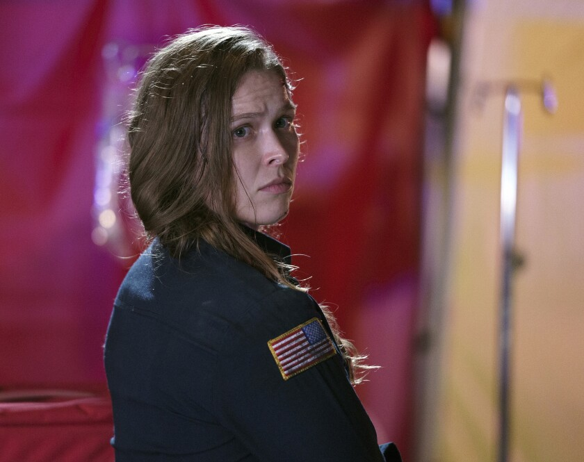 """Former MMA fighter Ronda Rousey guest stars on a new episode of """"9-1-1"""" on Fox."""
