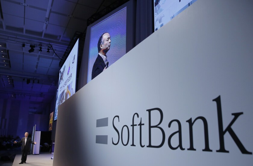 SoftBank Group Corp. CEO Masayoshi Son speaks during a SoftBank World presentation at a hotel in Tokyo.