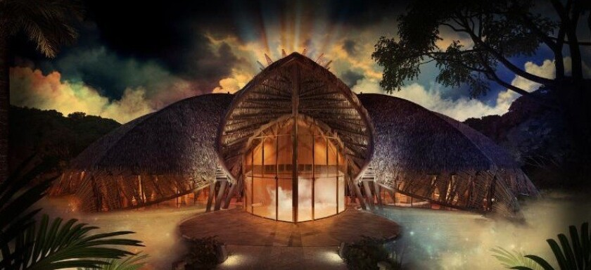 A rendering of the Vidanta Theater, which will house the first resident Cirque du Soleil show in Mexico.