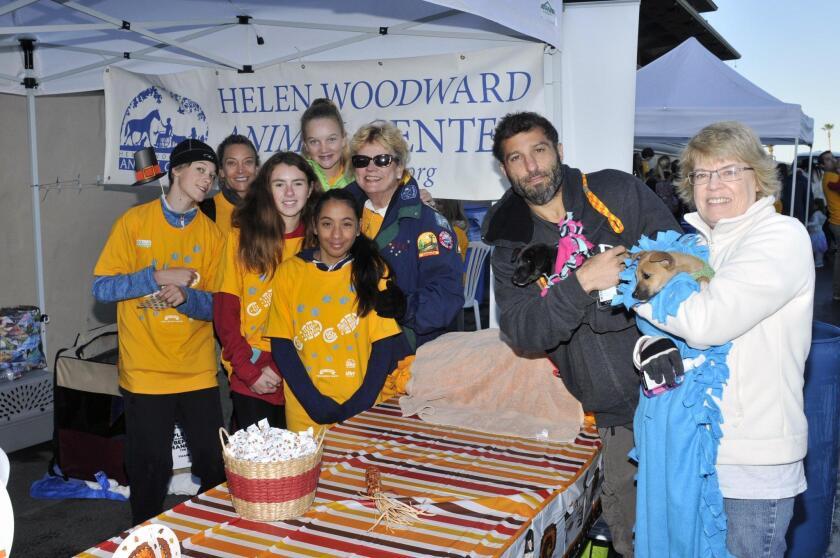 Helen Woodward volunteers