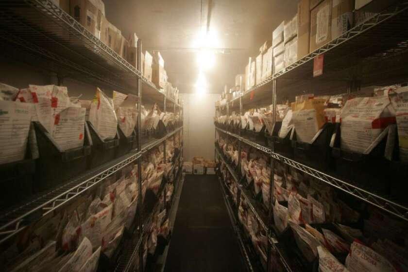 LAPD rape kit storage