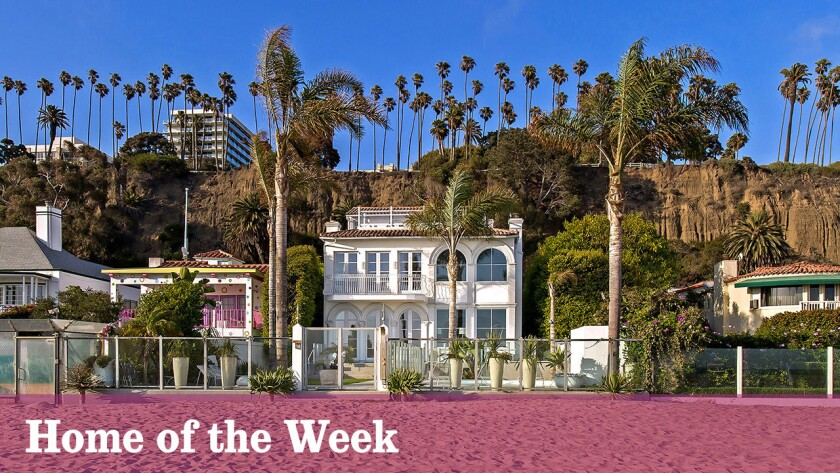The beachfront home at 609 Palisades Beach Road, Santa Monica, is listed at $29 million.