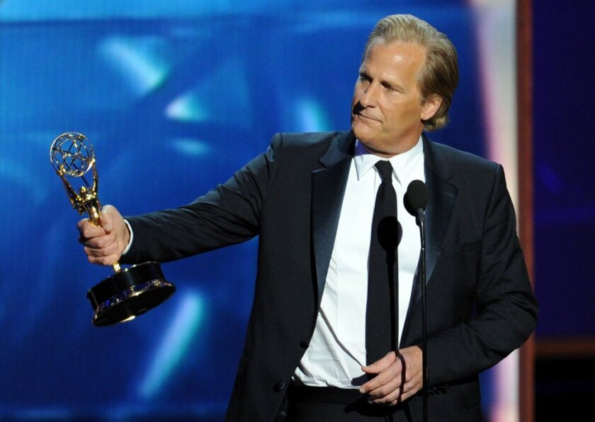"""Jeff Daniels won a best actor Emmy on Sunday for HBO's """"The Newsroom."""""""