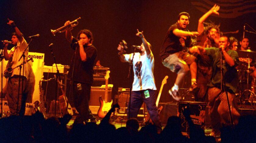 Ozomatli performing in 2000.