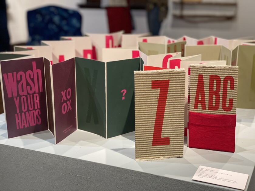 """Sibyl Rubottom created an artist book titled """"The ABC of COVID: Z is for Zoom."""""""