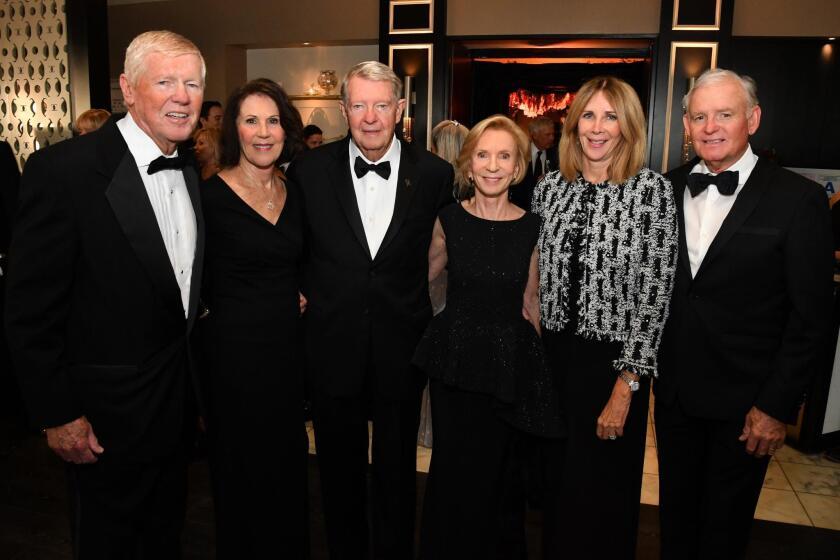 David and Linda Slocum, Riley Mixson and Carol Young, Gwynn and Brian Thomas