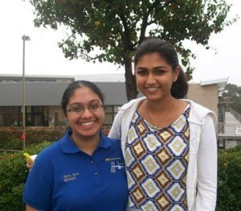 Meera Kota (10) and Pooja Bisarya (9)