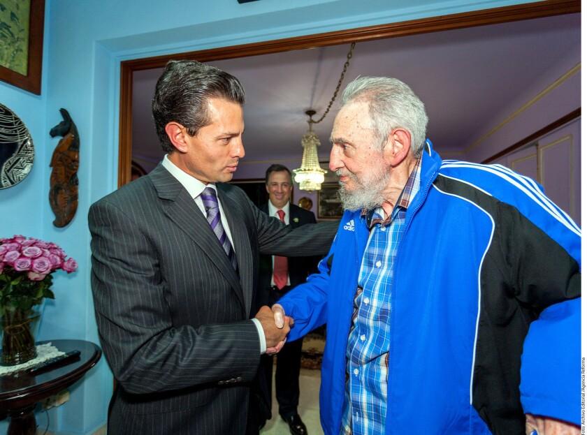 """El presidente de México, Enrique Peña Nieto, viajará este martes 29 de noviembre a La Habana, Cuba, """"para participar en la ceremonia luctuosa convocada con motivo del fallecimiento del Comandante Fidel Castro Ruz"""", informó hoy la oficina del mandatario."""