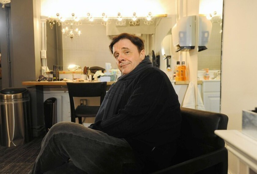 """Actor Nathan Lane in his dressing room at the Lyceum Theater, where he is starring in """"The Nance"""" in Manhattan."""