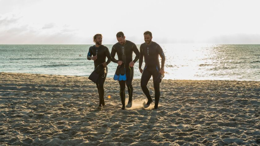 "Kyle Schmid, Barry Sloane and Juan-Pablo Raba portray elite Navy SEALs in the History series ""Six."""