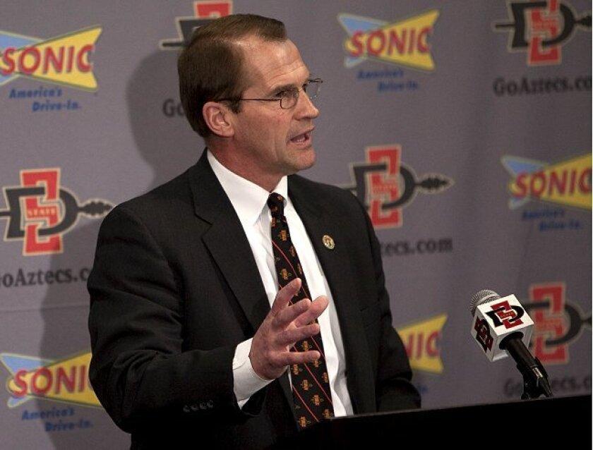 SDSU Athletic Director Jim Sterk, seen here in February 2010.