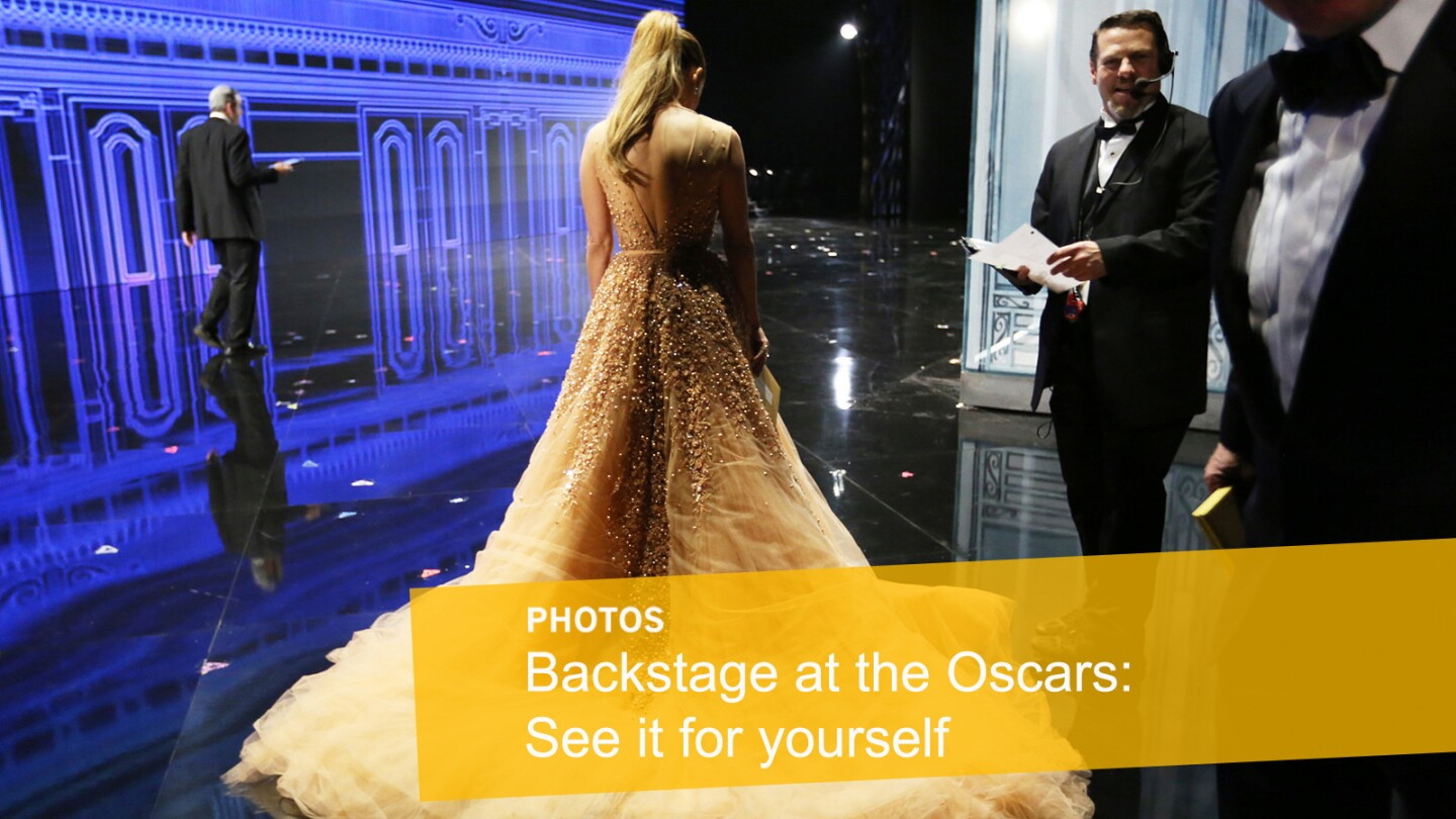 Moments backstage at the Oscars