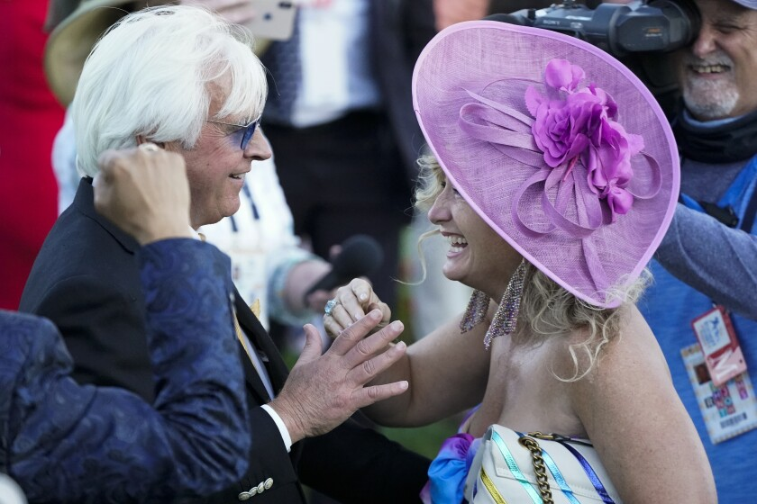 Trainer Bob Baffert and his wife Jill at the Kentucky Derby