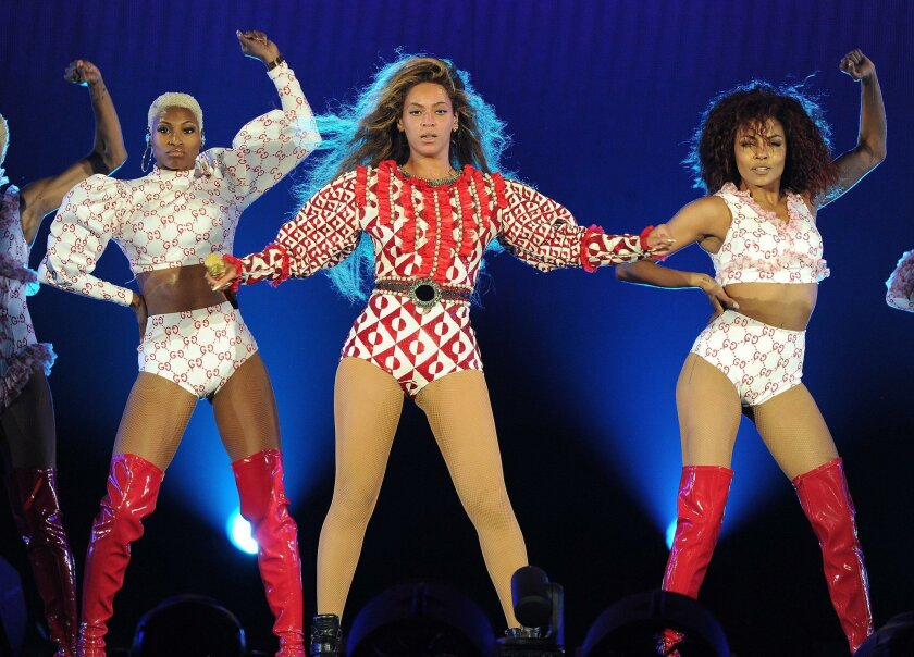 IMAGE DISTRIBUTED FOR PARKWOOD ENTERTAINMENT - Beyonce performs during the Formation World Tour at Marlins Park on Wednesday, April 27, 2016, in Miami, Florida. (Photo by Frank Micelotta/Invision for Parkwood Entertainment/AP Images)