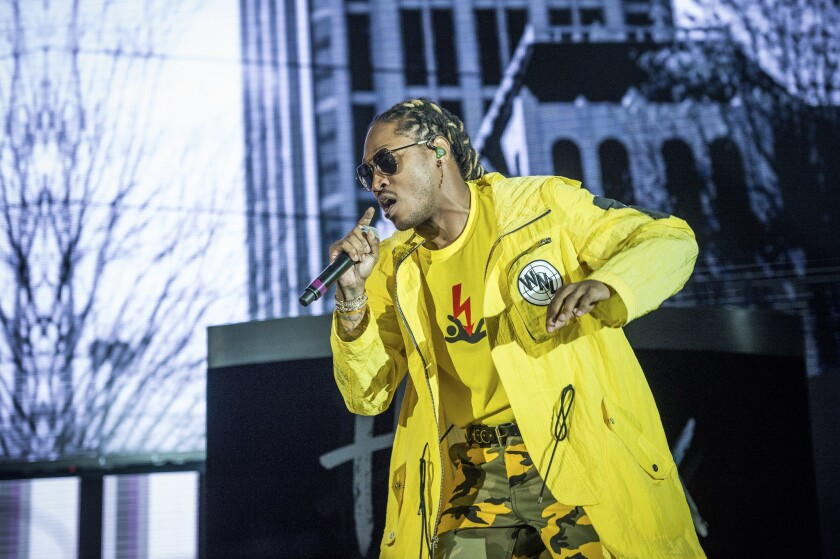 Future performs at the Bold Sphere Music at Champions Square in New Orleans on May 19, 2017.