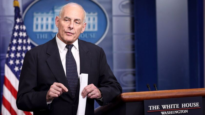 White House Chief of Staff John Kelly speaks to the media on Oct. 19.
