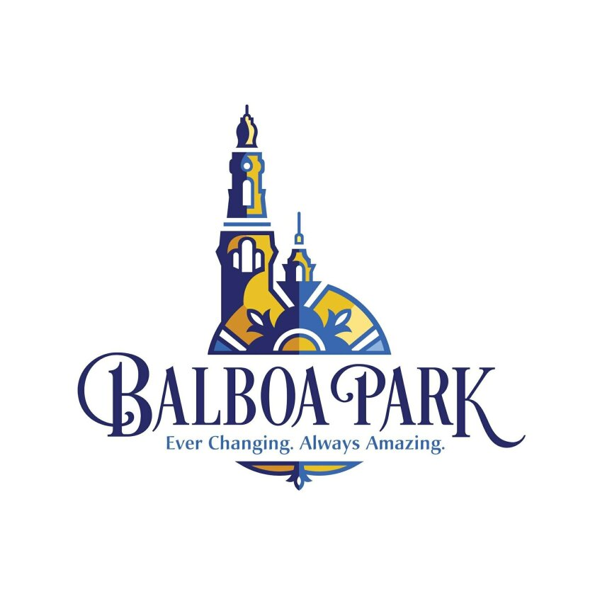 The unveiled, but not yet finalized, rendition of a new Balboa Park logo and motto for Balboa Park Cultural Partnership overseeing the park and its institutions.