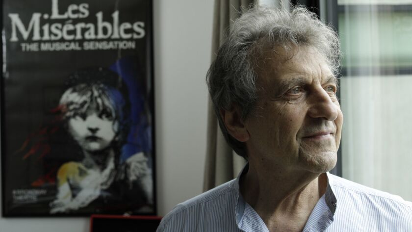 LOS ANGELES, CA -- MAY 13, 2019: Alain Boublil is the lyricist behind some of musical theater's bigg