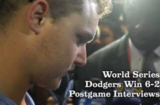 World Series Game 4 postgame interviews