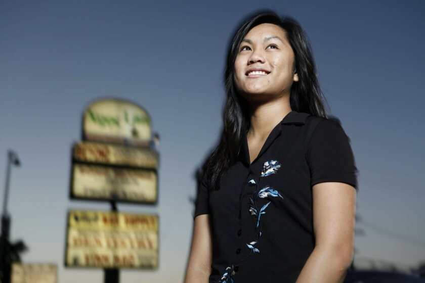 Thao Nguyen, a UCSD Urban Studies and Planning major, is a volunteer with the Little Saigon Foundation in City Heights.