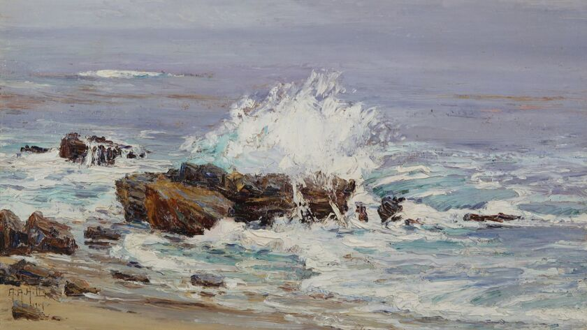 "Anna Hills' ""High Tide, Laguna Beach"" will be on display as part of the Laguna Art Museum exhibit ""Art Colony: The Laguna Beach Art Association, 1918-1935."""
