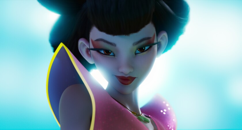 """Chang'e (voiced by Phillipa Soo) in the movie """"Over the Moon."""""""