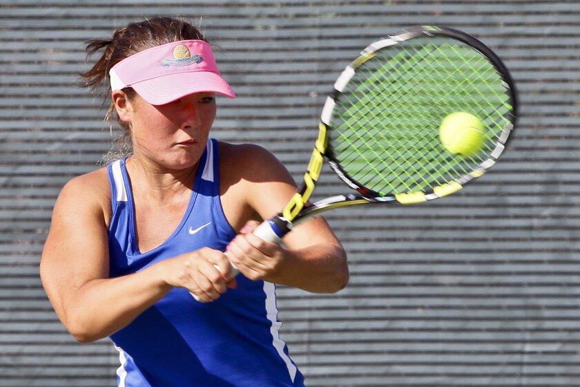 Julia Haynes hasn't lost a set while competing for Rancho Bernardo this season.