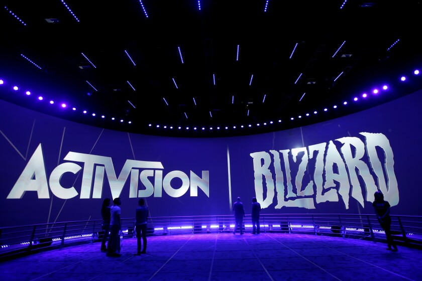 The Activision Blizzard Booth during the 2013 Electronic Entertainment Expo in Los Angeles.