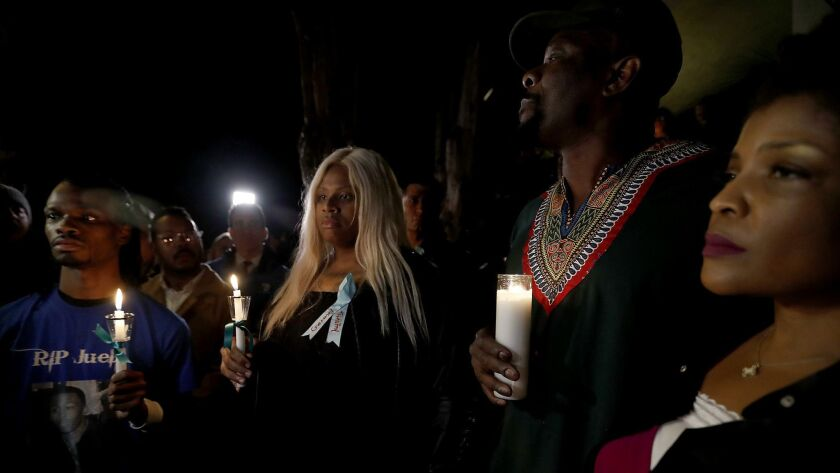 WEST HOLLYWOOD, CALIF. - JAN. 11, 2019. Members of the West Hollywood black and gay communities gat