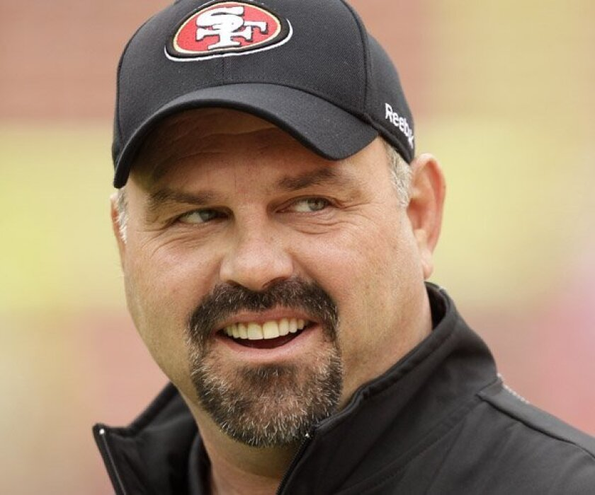 49ers defensive coordinator Greg Manusky in San Francisco, Sunday, Jan. 2, 2011