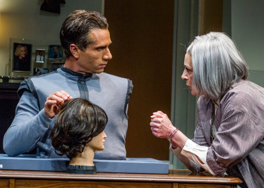 """Nick Cagle and Rosina Reynolds in San Diego Rep's """"Uncanny Valley."""""""