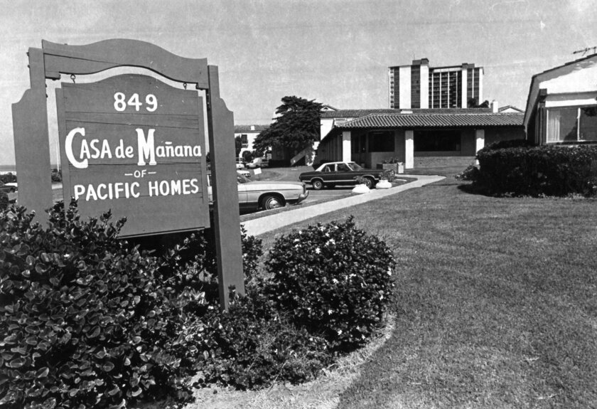 Once affiliated with the Methodist Church, Pacific Homes purchased Casa de Mañana in 1953. La Jolla Historical Society