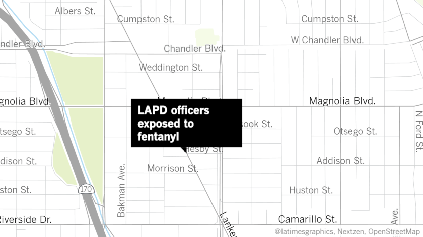 LAPD officers hospitalized after exposure to fentanyl in North Hollywood