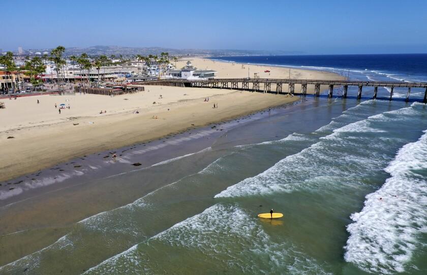 The Pacific Ocean at Newport Beach