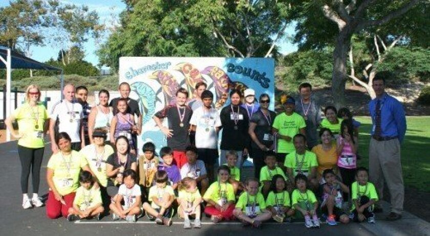 The Solana Highlands School summer running club raced a 5K on Aug. 22. Photos/Karen Billing