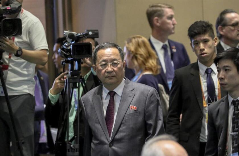North Korean Foreign Minister Ri Yong-ho (C). EFE/EPA/FILE