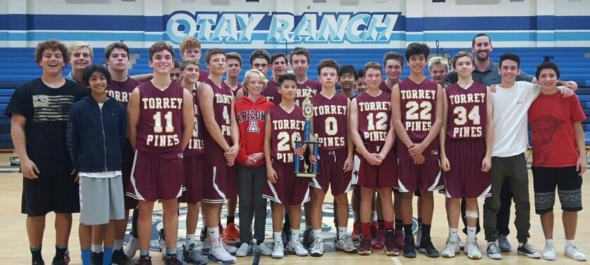 Torrey Pines High School boys freshman basketball team