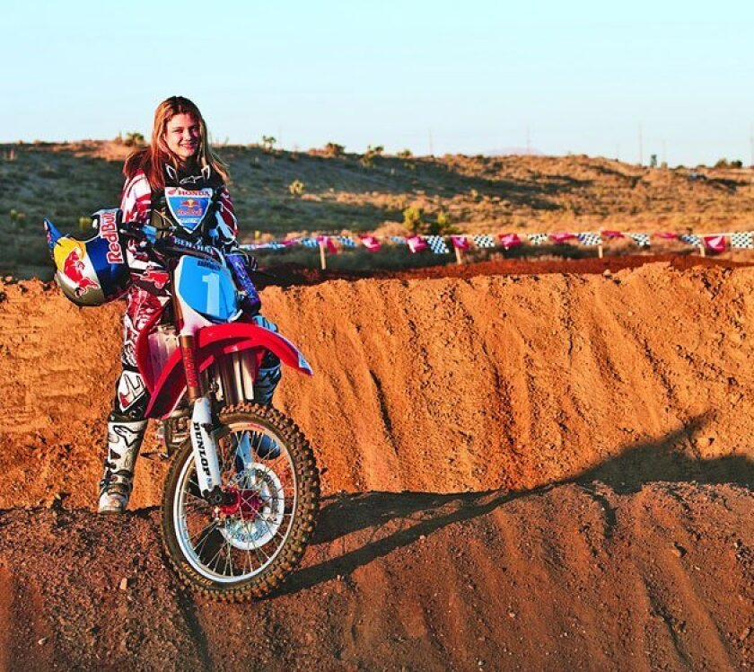 Being deaf, Ashley Fiolek faces challenges other riders don't. She must hold her line longer than other riders, making sure she doesn't cut off a rival she can't hear charging from behind. She looks for shadows and sometimes peeks behind her to get a feel for oncoming riders. <strong>(Click for lar