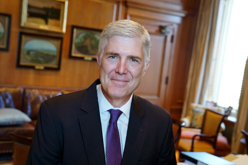 Justice Gorsuch book touts Scalia's views and civility in