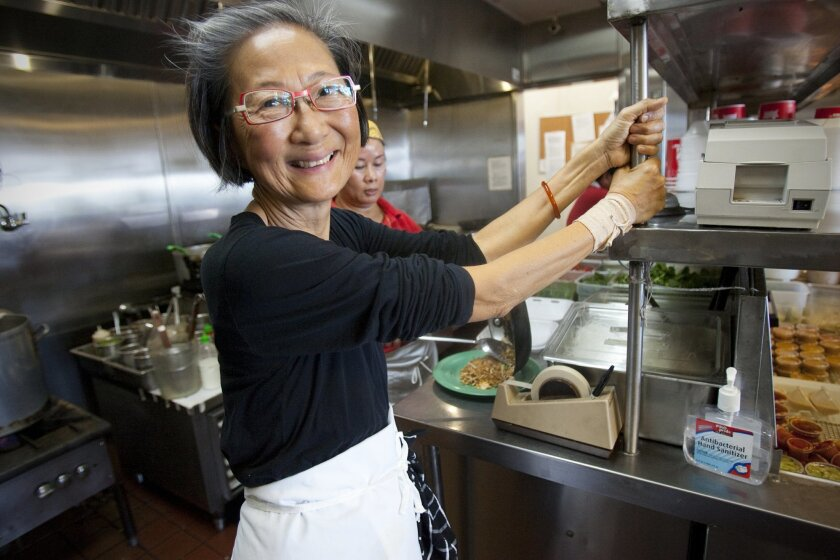 """Su-Mei Yu, cookbook author and owner of Saffron restaurant. Her new KPBS show """"Savor San Diego with Su-Mei Yu"""" debuts May 2."""